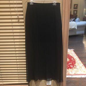 Ellie Tahari silk overlay skirt